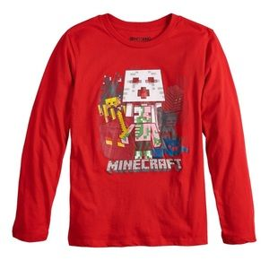 💚SALE💚 NWT Minecraft Long Sleeve Tee Shirt